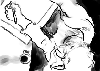 kleine zeichnung am morgen